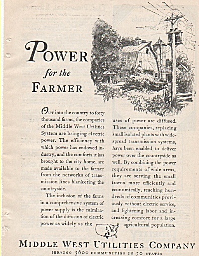 Middle West Utilities company ad 1928 (Image1)