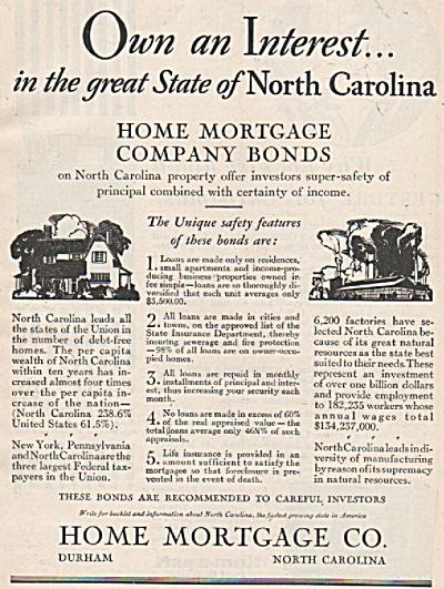Home Mortgage Co., Ad 1928 (Image1)