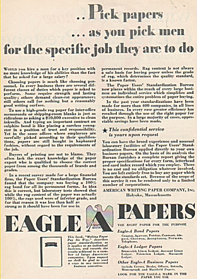 Eagle Papers ad 1928 (Image1)