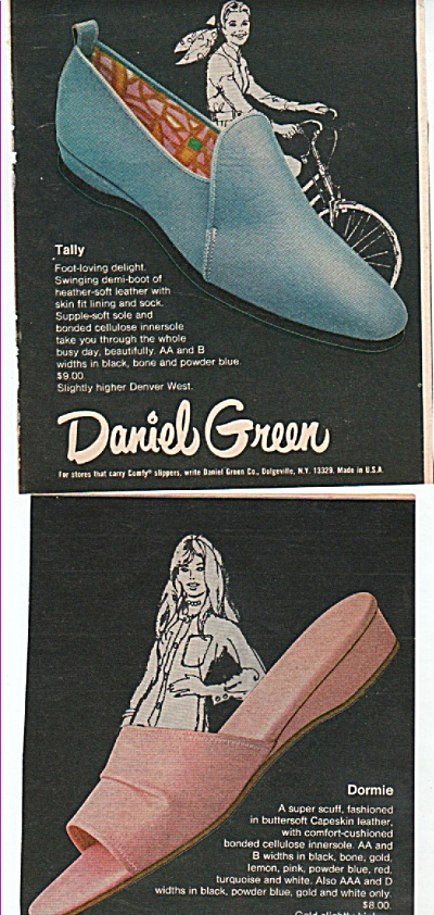 Daniel Green Slippers And Shoes Ad 1971