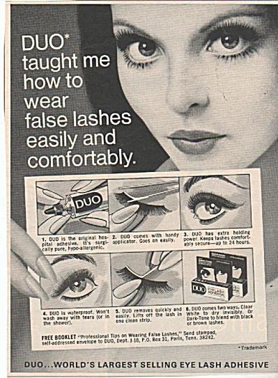 Duo eye lash adhesive ad 1971 (Image1)