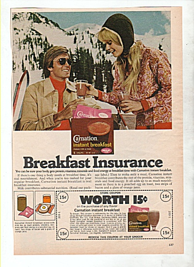 Carnation Instant Breakfast ad 1971 MOUNTAINS (Image1)