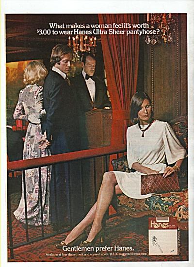 Hanes panthose ad 1974 (Image1)