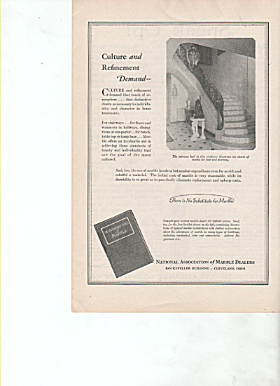 National association of marble dealers ad 1928 (Image1)