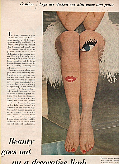 Models decorate their  legs - 1966 (Image1)