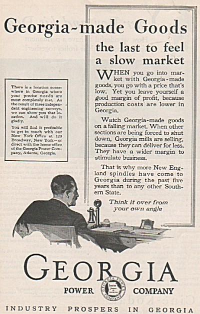 Georgia power company ad 1928 (Image1)