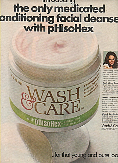 Wash & Care Facial Cleanser Ad 1968