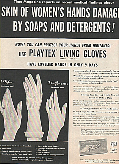 Playtex living gloves ad -1954 (Image1)