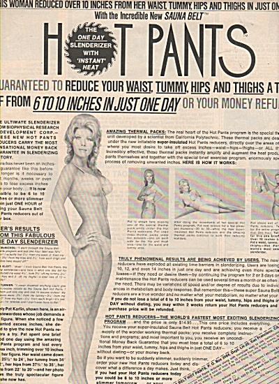 Sauna Belt hot pants ad 1971 (Image1)