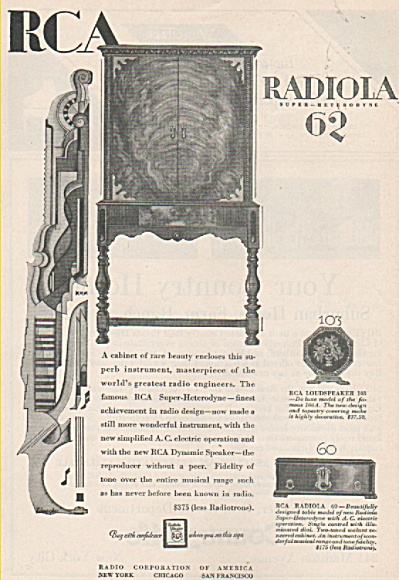 RCA Radiola 62 ad 1928 (Image1)