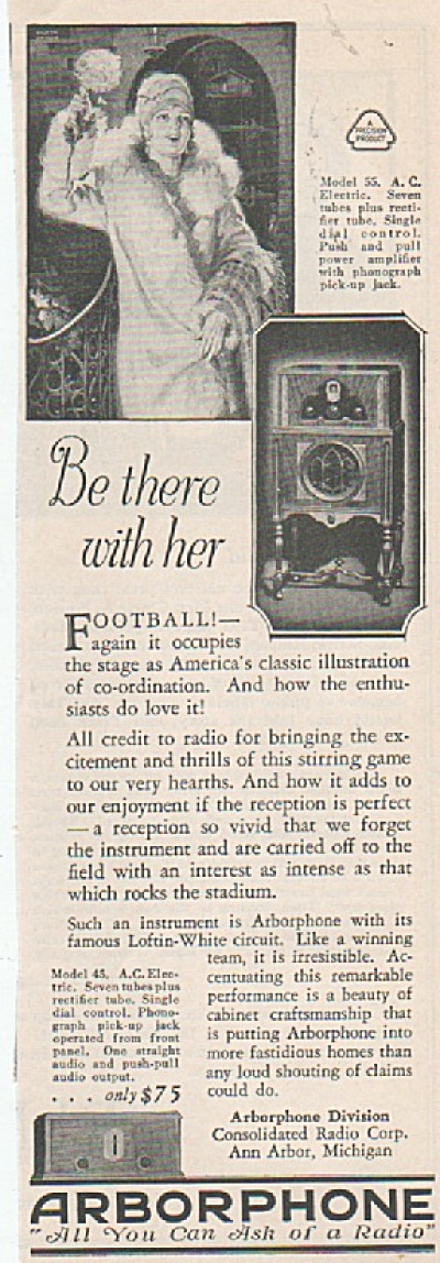 Arborphone  ad - 1928 (Image1)