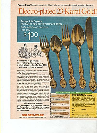 Golden Ware forks, knifes, etc. ad k1971 (Image1)