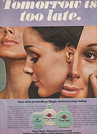 Deep Magic lotions ad 1972 (Image1)