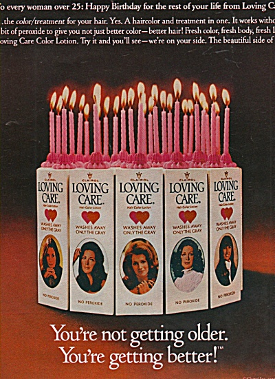 Clairol Loving  care lotions ad 1972 (Image1)