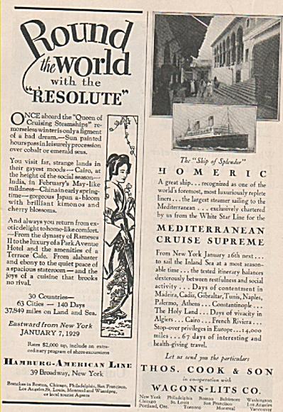 Hamburg American Line  -- Thomas Cook & son ads 1928 (Image1)
