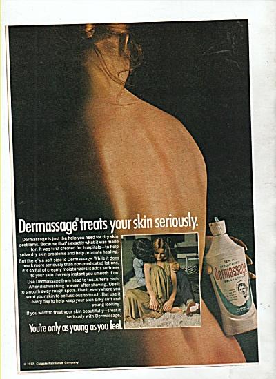Dermassage skin lotion ad 1972 (Image1)