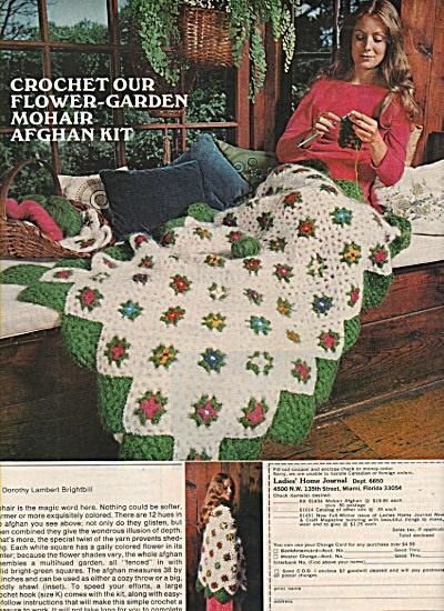 Crochet Afghan Kit - Ladies Home Journal Ad 1972