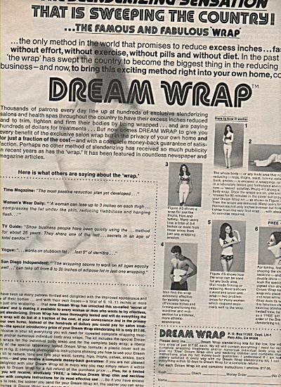 Dream Wrap slenderizing kits ad 1972 (Image1)