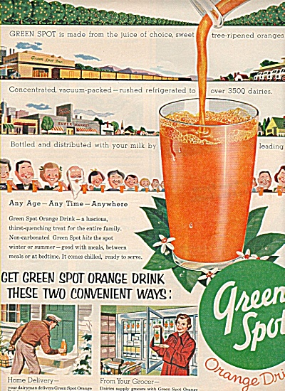 green spot orange drink ad  1954 (Image1)