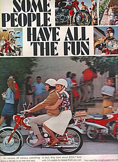 Honda motorcycle ad 1966 (Image1)