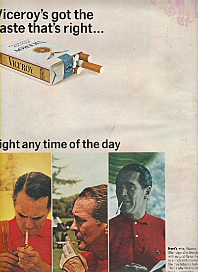 Viceroy cigarettes ad 1966 (Image1)