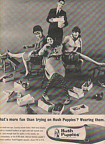 Hush Puppies shoes ad 1966 WHATS MORE FUN (Image1)