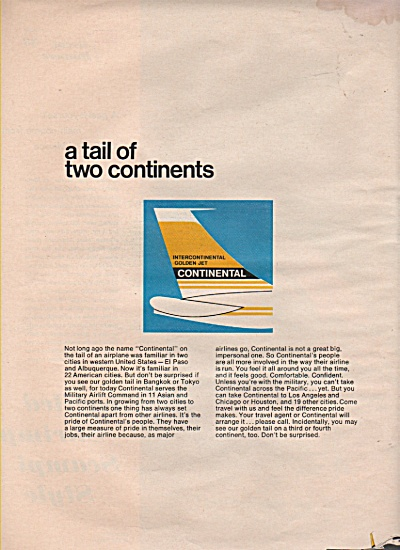 Continental airlines ad 1966 (Image1)