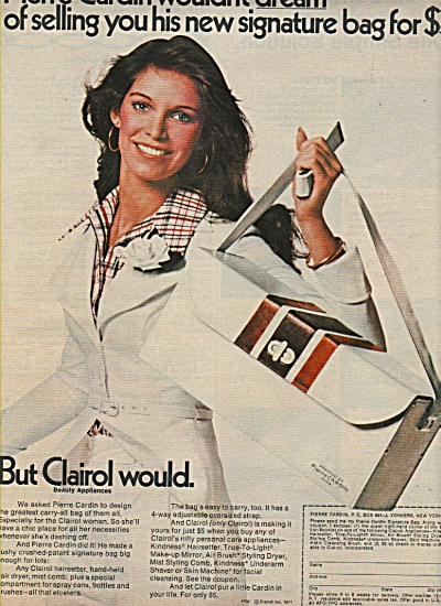 Clairol - Pierre Cardin carry all bag ad 1972 (Image1)