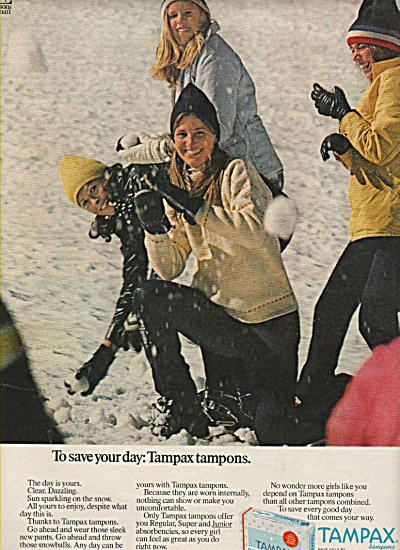Tampax tampons ad 1972 (Image1)
