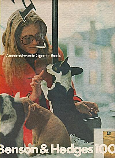 Benson & Hedges 100s cigarettes ad 1972 (Image1)