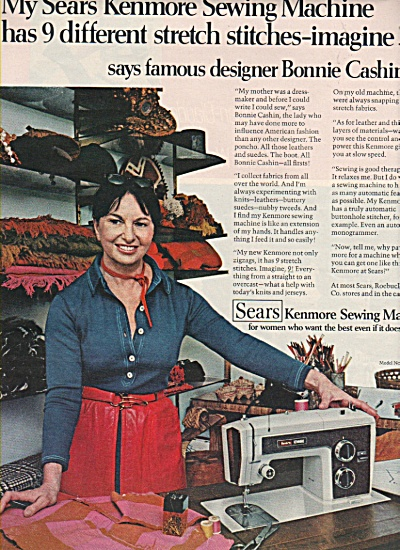 Sears - Kenmore Sewing Machine Ad 1972