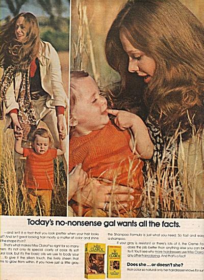 Miss Clairol  shampoo ad 1972 (Image1)