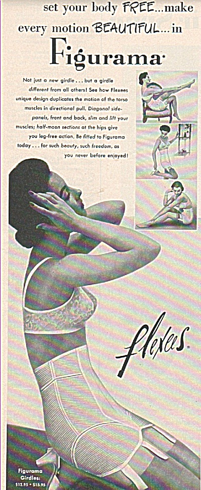 Flexees figurama ad 1954 (Image1)