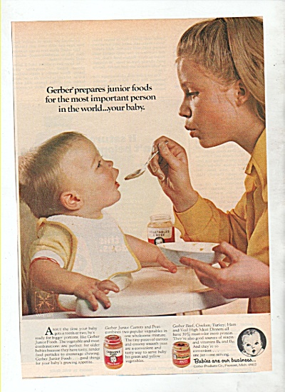 Gerber baby foods ad 1972 (Image1)