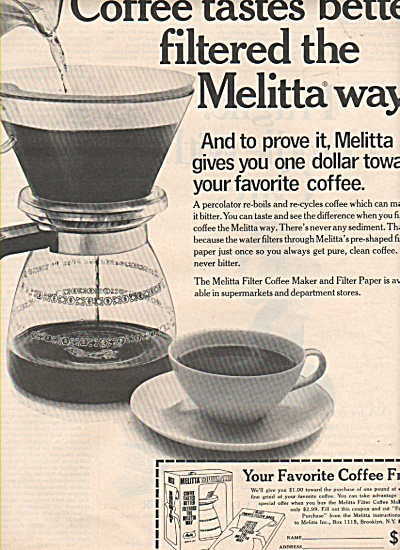 Coffee filtered the MELITTA Way ad 1972 (Image1)