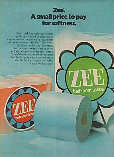 Zee bathroom tissue ad 1972 (Image1)