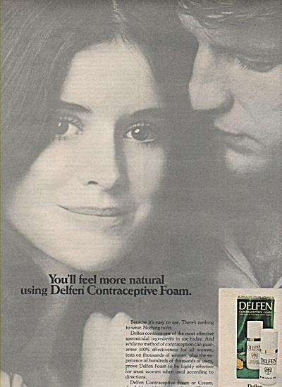 Delfen contraceptive foam ad 1972 (Image1)