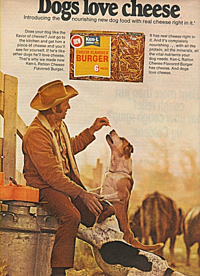 Cheese flavored Ken - l burger. ad 1972 (Image1)