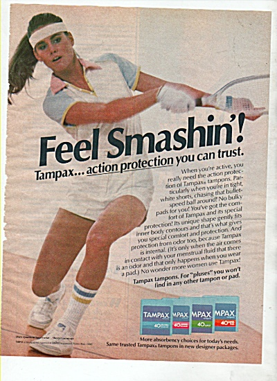 Tampax tampons ad 1982 (Image1)