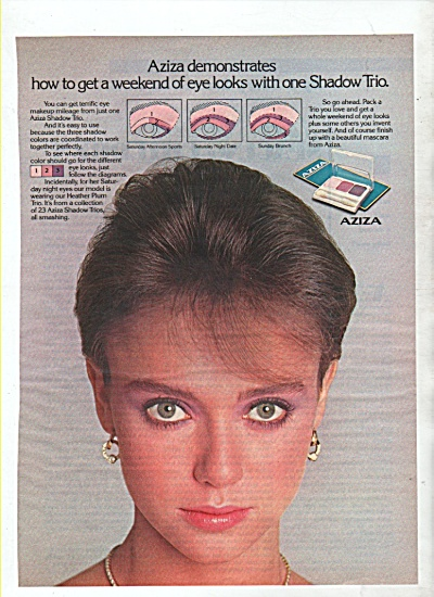 Aziza eye shadow ad 1982 (Image1)