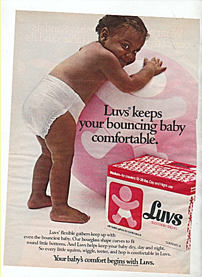 Luvs Diapers Ad 1982