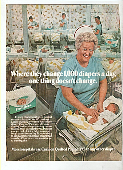 Pampers diapers ad 1982 (Image1)