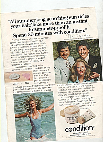 Condition Of Clairol Ad 1978