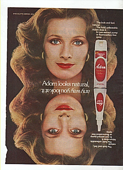 Adorn hair spray ad 1978 (Image1)