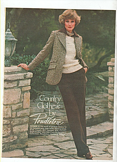 Pendleton country clothes ad 1978 (Image1)