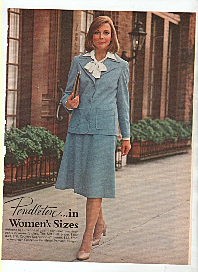 Pendleton in women's sizes ad 1978 (Image1)