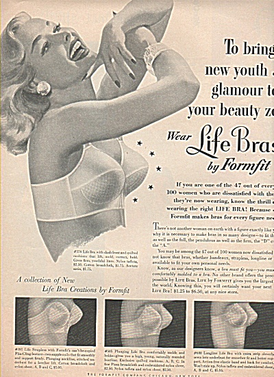 Forfit Life Bras Ad 1954