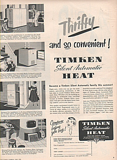 Timken silent automatic heat ad 1953 (Image1)