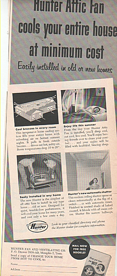 Hunter Attic fan ad 1953 (Image1)