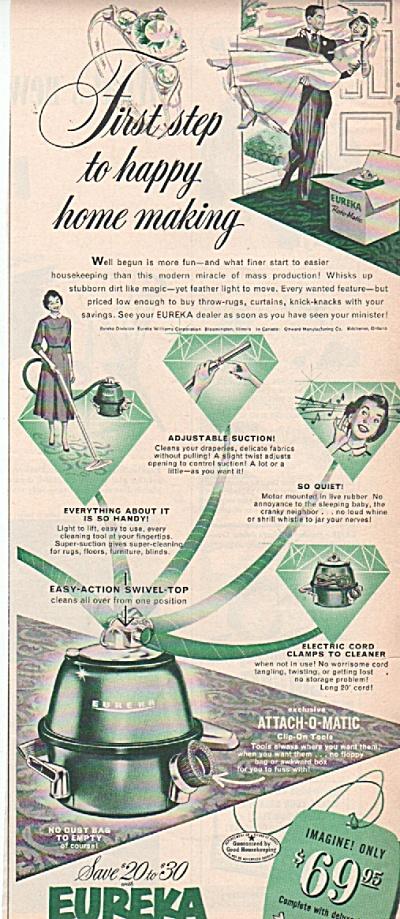Eureka  roto matic vacuum ad 1953 (Image1)
